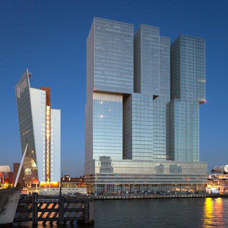 De Rotterdam tower by OMA