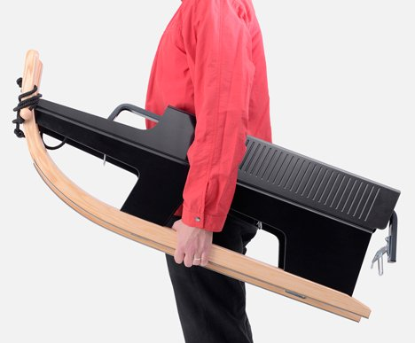 Folding sled by Max Frommeld and Arno Mathies