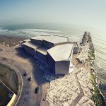 Concrete concert hall by Rojkind Arquitectos will overlook the Gulf of Mexico