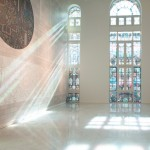 Studio Job's Futopia Faena exhibition includes stained glass windows and a roller disco