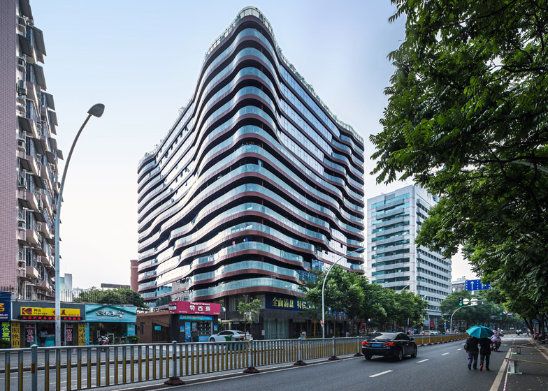 NEXT Architects creates rippled facade for Fuzhou apartment block