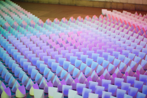 Gradients, Reflections and Doted Lamp by Studio Dennis Parren