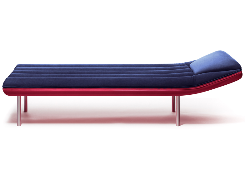 Emanuele Magini's Blow daybed for Gufram is modelled on inflatable lilos