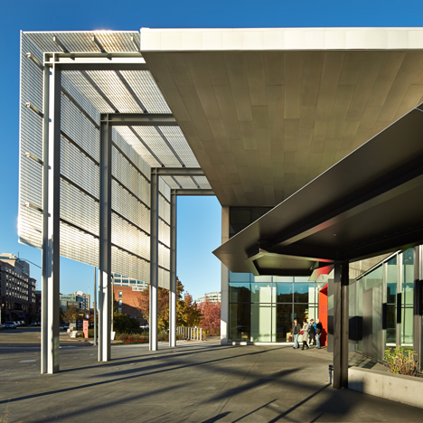 "Olson Kundig's Tacoma Art Museum wing has movable screens that ""roll like railroad box cars"""