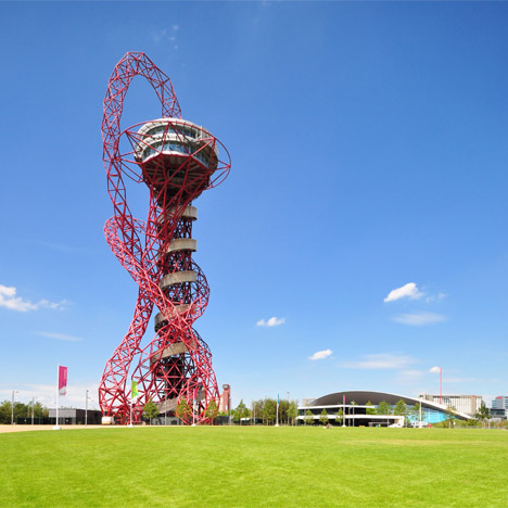 """World's longest and tallest tunnel slide"" to wrap Anish Kapoor sculpture in London's Olympic park"