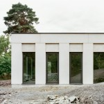 Hermansson Hiller Lundberg references Classical architecture with monochrome House Skuru