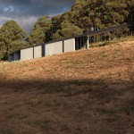 Kerstin Thompson's House at Hanging Rock hugs a hillside in the Australian bush