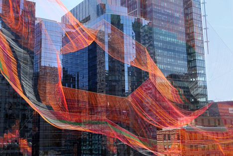 As If It Were Already Here Boston installation by Janet Echelman