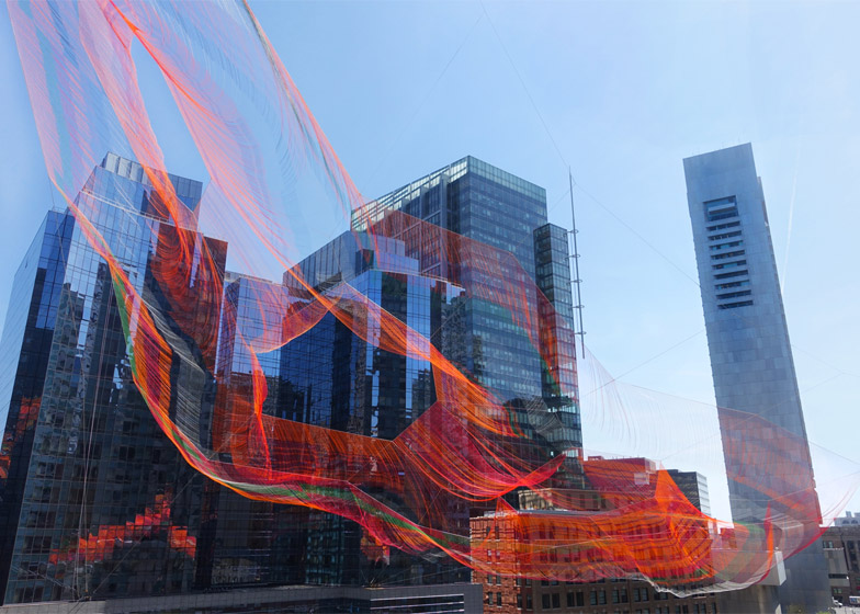 As If It Were Already Here Boston installation by Janet Echelman