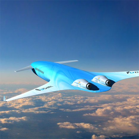 KLM and TU Delft propose long-distance aircraft featuring wings that merge with its body