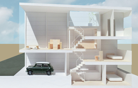 Kakko House Is A 3 4 Metre Wide Home In Japan