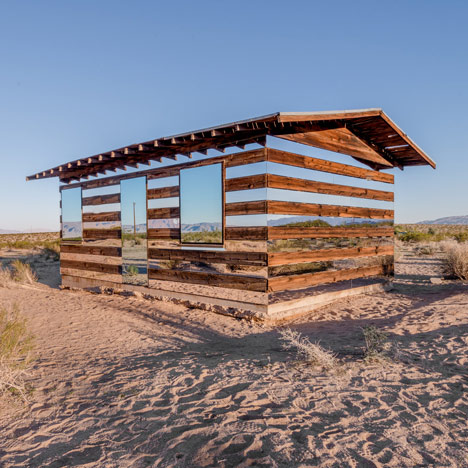 Lucid Stead mirrored cabin by Phillip K Smith III