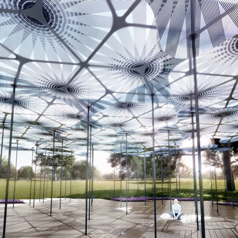 Amanda Levete unveils forest canopy design for second Melbourne MPavilion