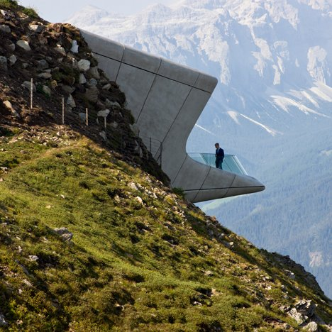 Zaha Hadid buries a museum in the peak of an Alpine mountain