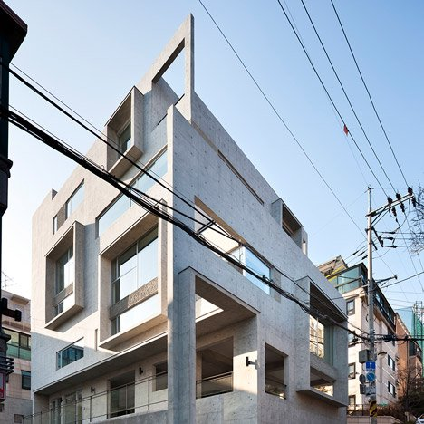 Studio GAON creates multiple frames on Seoul photography studio facade
