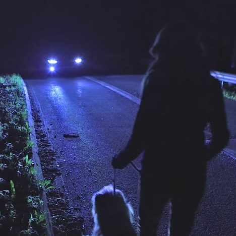 Ford's night-vision lighting system warns drivers of unseen pedestrians, cyclists and animals