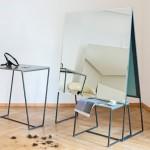 Raum404 creates freestanding mirrors and furniture for Zurich hair salon