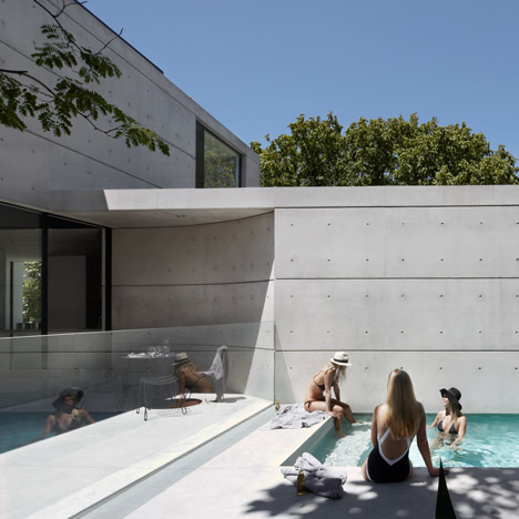 Smart Design Studio adds concrete extension and pool to dilapidated Sydney villa