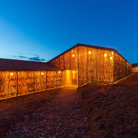 Sharon Davis' housing for Rwandan healthcare workers is wrapped in eucalyptus screens