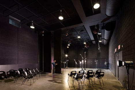 Pratt Institute new film and video building interior by WASA Studio