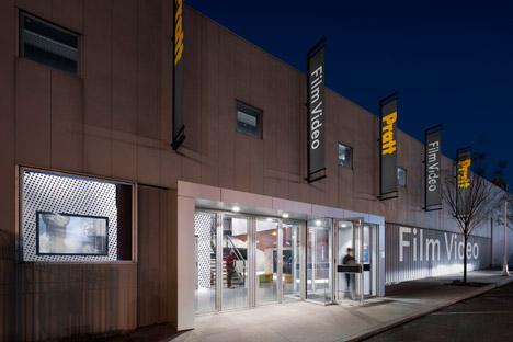 Pratt Institute new film and video building interior by WASA Studio