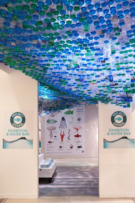 Project Ocean exhibition and Water Bar at Selfridges