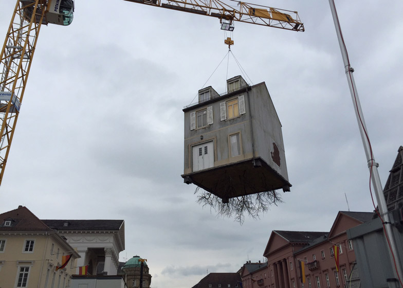 Pulled by the Roots by Leandro Erlich
