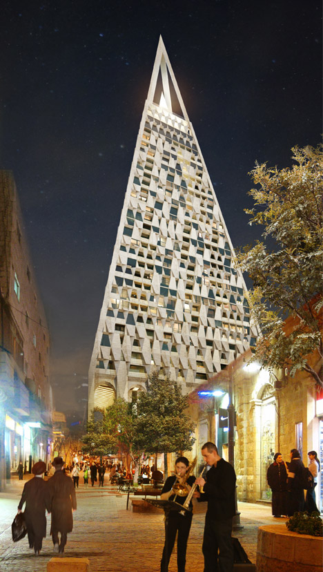 Pyramid Tower by Daniel Libeskind