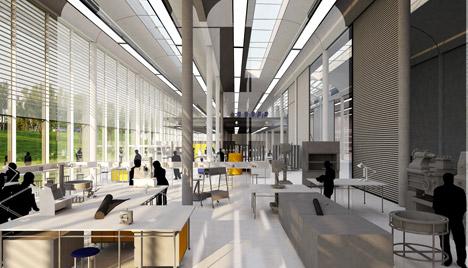 Musée du Louvre conservation facility by Rogers Stirk Harbour + Partners