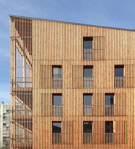 Rue Auvry housing by Tectone Architectes