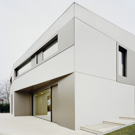 S3 House is a concrete and aluminium villa by Steimle Architekten
