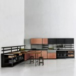 Patricia Urquiola's Salinas kitchen system for Boffi hides wires and pipes