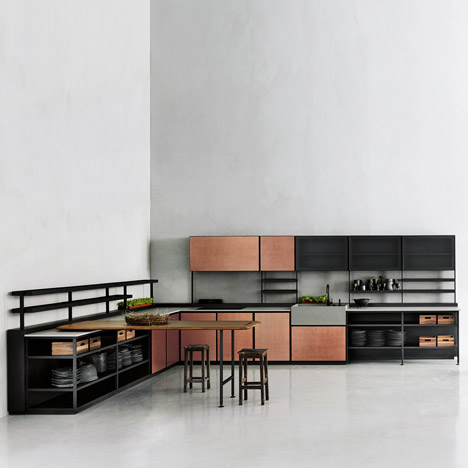 Patricia Urquiola's Salinas system for Boffi is based on her grandfather's kitchen
