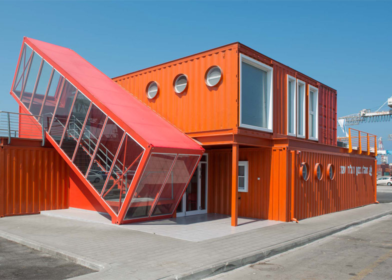 10 of 10; Shipping Container Terminal office building by Potash Architects