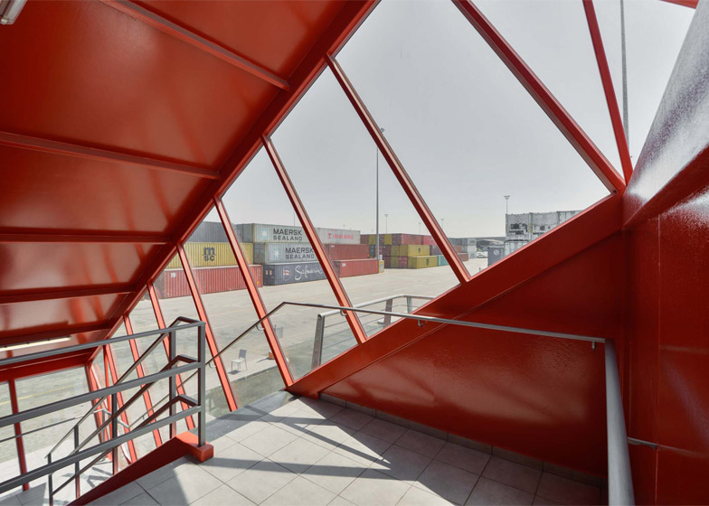 Shipping Container Terminal office building by Potash Architects