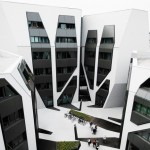 House and office complex by J Mayer H features monochrome facades and false shadows