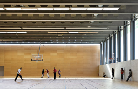 Jules Ladoumègue Sports Centre by Dietmar Feichtinger Architectes