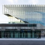 Jules Ladoumègue Sports Centre features a facade of moving glass shutters