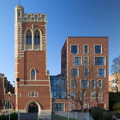 Matthew Lloyd builds decorative brick homes around a 19th-century London church