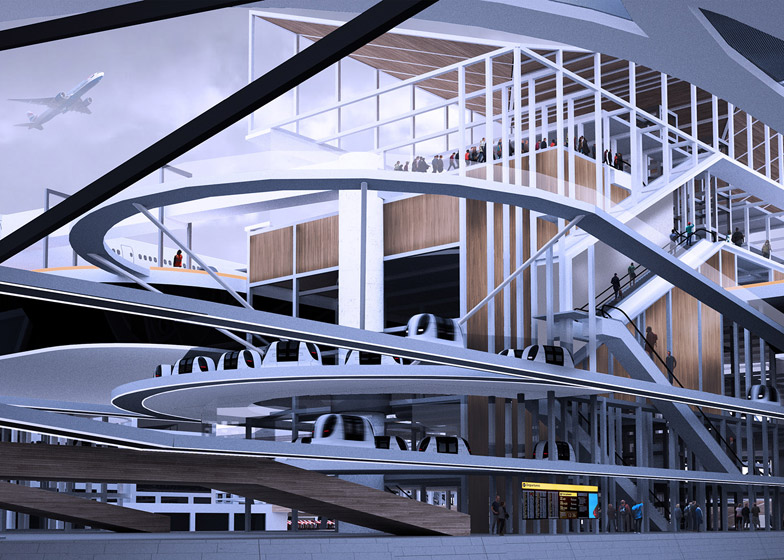 Stockholm City Airport by Alex Sutton for The Bartlett graduate show 2015