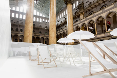 The Beach installation by Snarkitecture