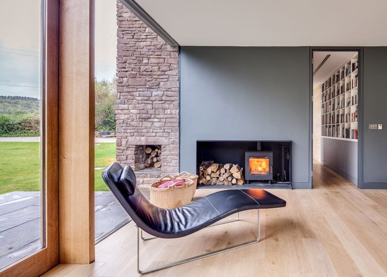 Contemporary Hall Wales 4 of 10; The Nook, Monmouthshire by Hall + Bednarczyk Architects