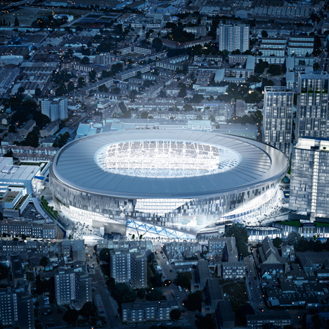 "New Tottenham Hotspur football stadium by Populous to feature ""world's first sliding pitch"""