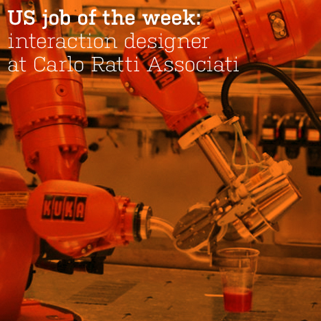 US job of the week: interaction designer at Carlo Ratti Associati