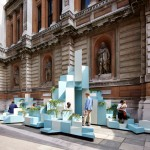 Unexpected Hill provides seating and climbing opportunities at the Royal Academy of Arts