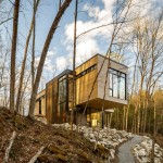 Canadian forest retreat by Christopher Simmonds stretches out towards lake views