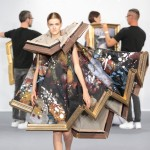 Viktor & Rolf dresses models in wearable paintings during Paris couture show