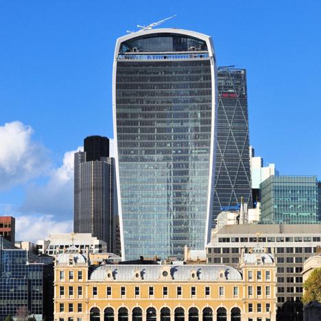 Walkie Talkie skyscraper in London
