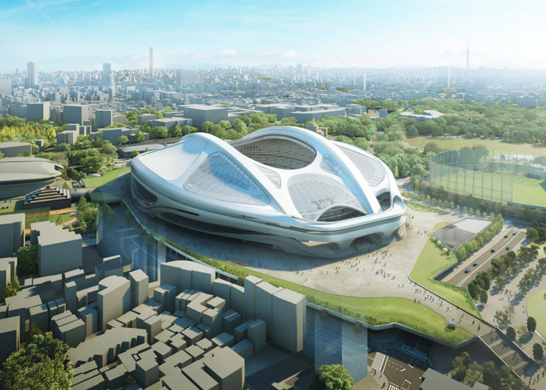 Japan National Stadium for Tokyo 2020 Olympics by Zaha Hadid