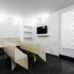 Tile motif creates patterned interior for Porto dental clinic by Ren Pepe Arquitetos